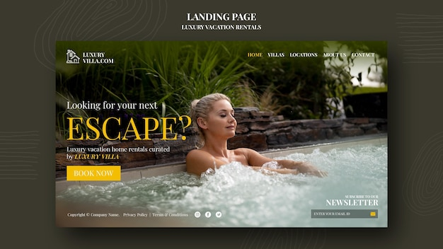 Websjabloon voor luxe vakantieverblijven