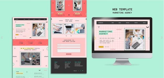 Websjabloon voor marketingbureaus voor sociale media