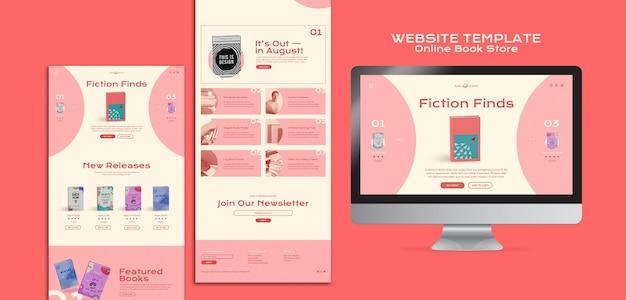 Websjabloon voor online boekwinkel
