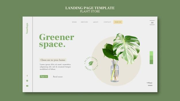 Websjabloon voor plantenwinkel