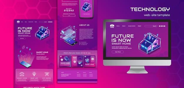 Websjabloon voor smart home-app
