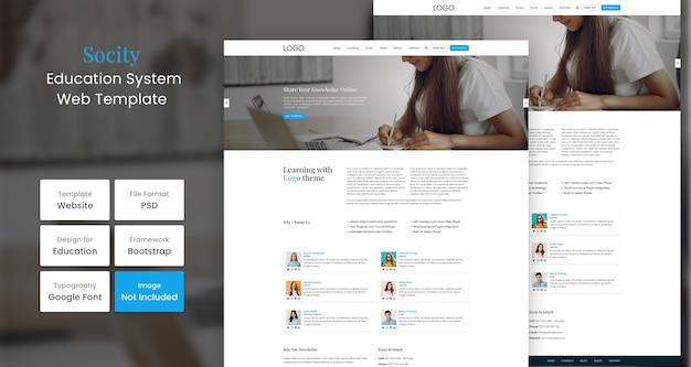 Websjabloon voor sociaal onderwijs