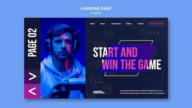 Websjabloon voor videogames spelen