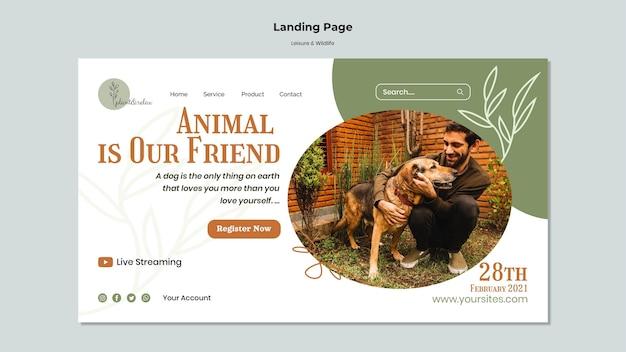 Websjabloon voor vrije tijd en dieren in het wild