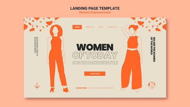 Websjabloon voor vrouwenemancipatie