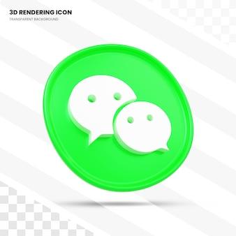 Wechat 3d-rendering icoon