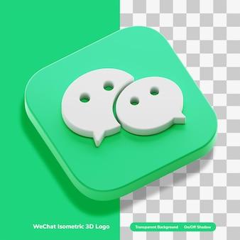 Wechat logo messaging app account 3d concept weergave pictogram concept geïsoleerd