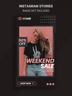 Weekend fashion verkoop banner