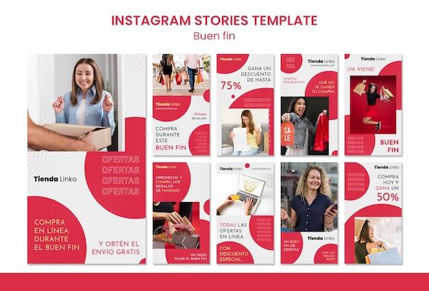 Weekend verkoop instagram verhalen sjabloon