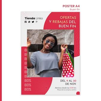 Weekend verkoop poster sjabloon