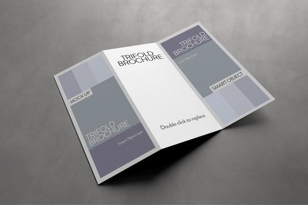 Weergave van een driebladig brochuremodel
