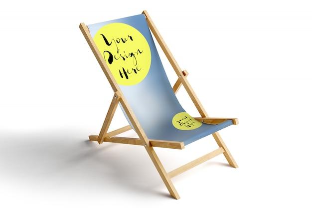 Weergave van een mockup van een sun lounge chair