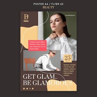 Wees een glamoureuze postersjabloon