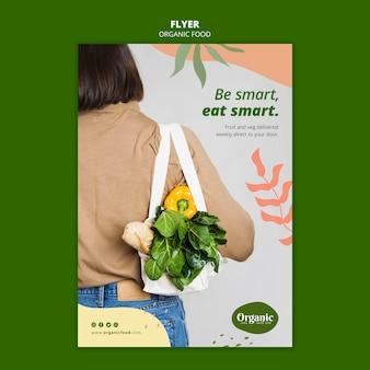 Wees slim, eet slim flyer-sjabloon