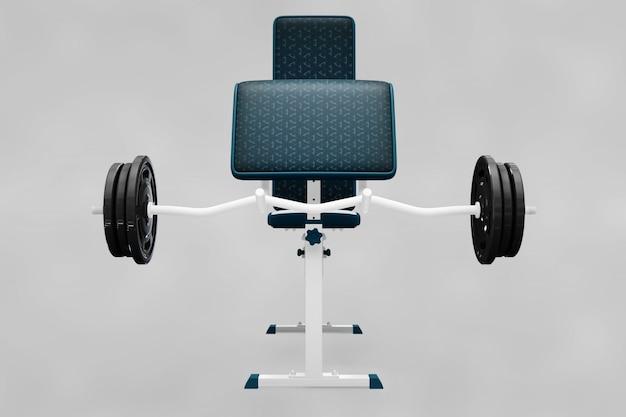Weightlifting elementen mockup