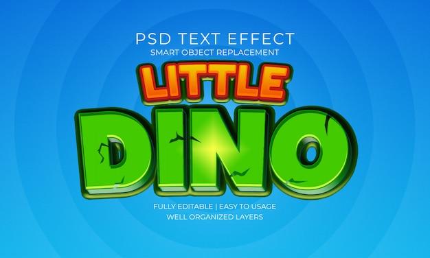 Weinig dino-teksteffect