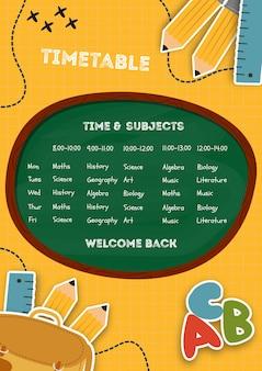 Welkom terug naar school sjabloon