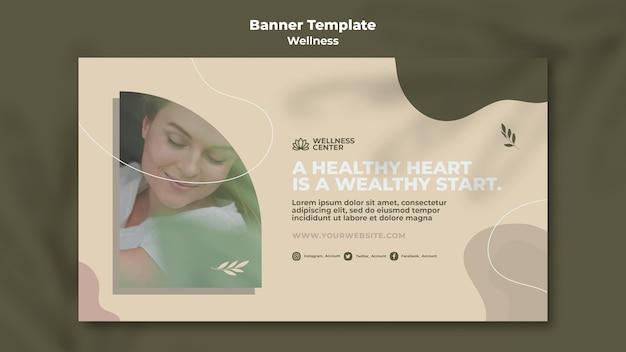 Wellness horizontale banner sjabloon