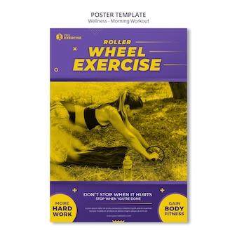 Wellness ochtend training poster sjabloon