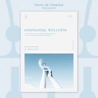 Wellness-poster sjabloon met foto