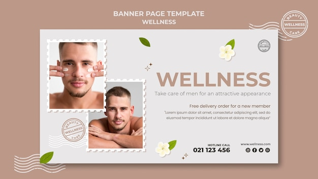 Wellness-sjabloon voor spandoek met foto