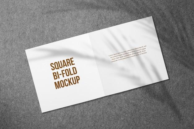 Wenskaart of vierkante bi-fold brochuremodellen