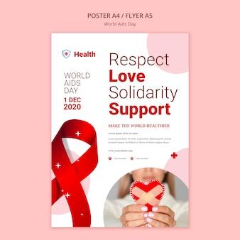 Wereld aids dag poster sjabloon