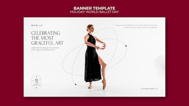 Wereld ballet dag banner
