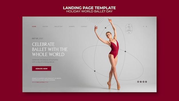 Wereld ballet dag websjabloon