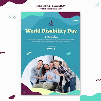 Wereld handicap dag flyer-sjabloon