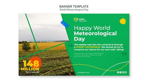 Wereld meteorologische dag banner