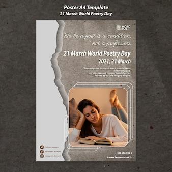 Wereld poëzie dag poster