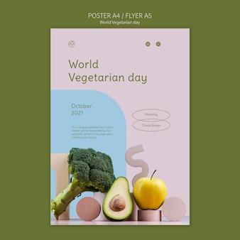 Wereld vegetarische dag afdruksjabloon Gratis Psd