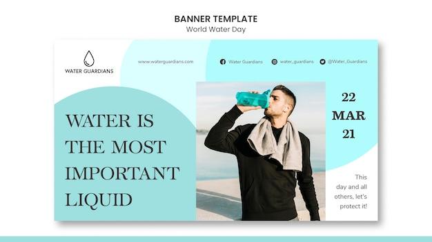 Wereld water dag concept sjabloon voor spandoek