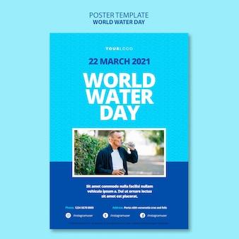 Wereld water dag poster sjabloon