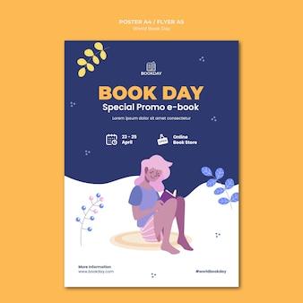 Wereldboekdag evenement poster
