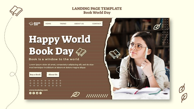 Wereldboekdag startpagina sjabloon