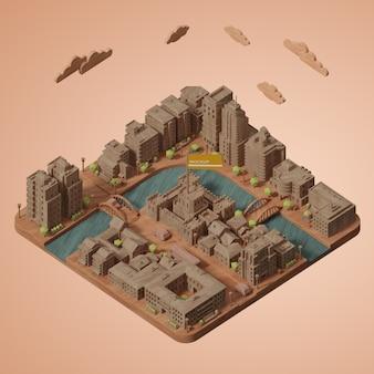 Werelddagmodel voor steden
