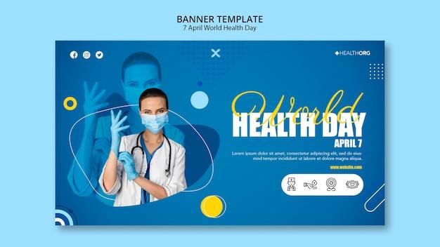 Wereldgezondheidsdag banner met foto