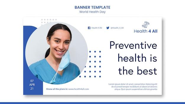 Wereldgezondheidsdag banner