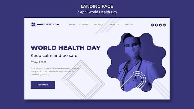 Wereldgezondheidsdag bestemmingspagina