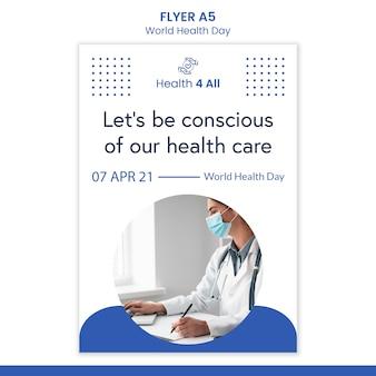 Wereldgezondheidsdag flyer