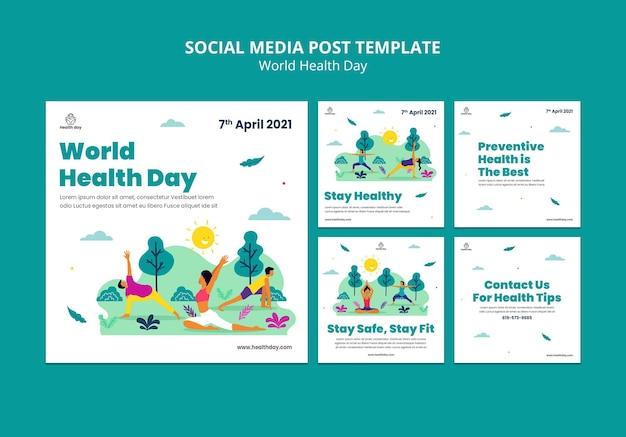Wereldgezondheidsdag sociale media-berichten
