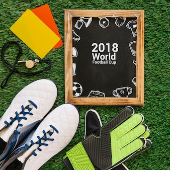 Wereldkampioenschap voetbalmok met leisteen
