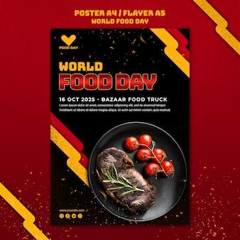 Wereldvoedseldag sjabloon poster