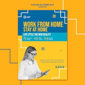 Werk vanuit huis flyer-sjabloon