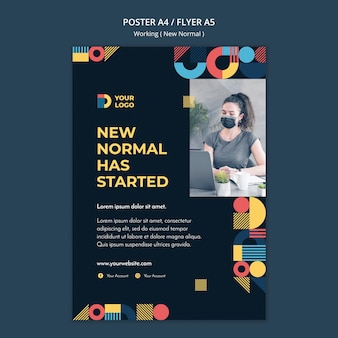 Werken op de nieuwe normale manier poster