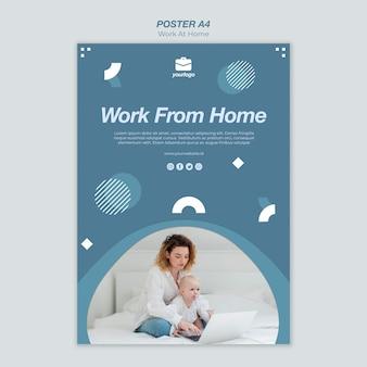 Werken vanuit huis poster sjabloon