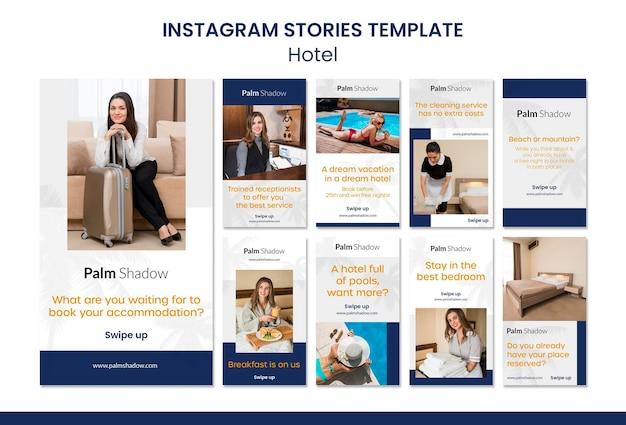 Werknemers en klanten hotel instagram-verhalen