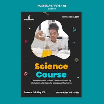 Wetenschap cursus poster sjabloon